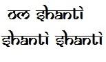 yoga mantra om shanti