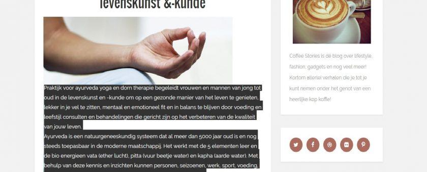 ayurveda praktijk artikel